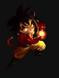 Goku super saiyan Four! by Shoscombe