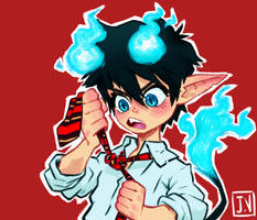 Tied Rin Okumura - Ao no Blue Exorcist