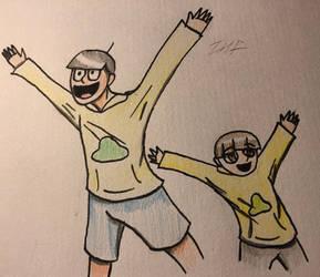 Jyushimatsu and apprentice [Osomatsu-san fanart]