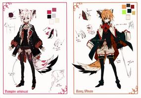 [CLOSED] Semi-chibi adopt 9 and 10 by Piku-chan21
