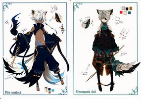 [CLOSED]Semi-chibi adopt 11 and 12 by Piku-chan21