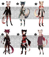 [CLOSED] Auction Leftover adopts by Piku-chan21