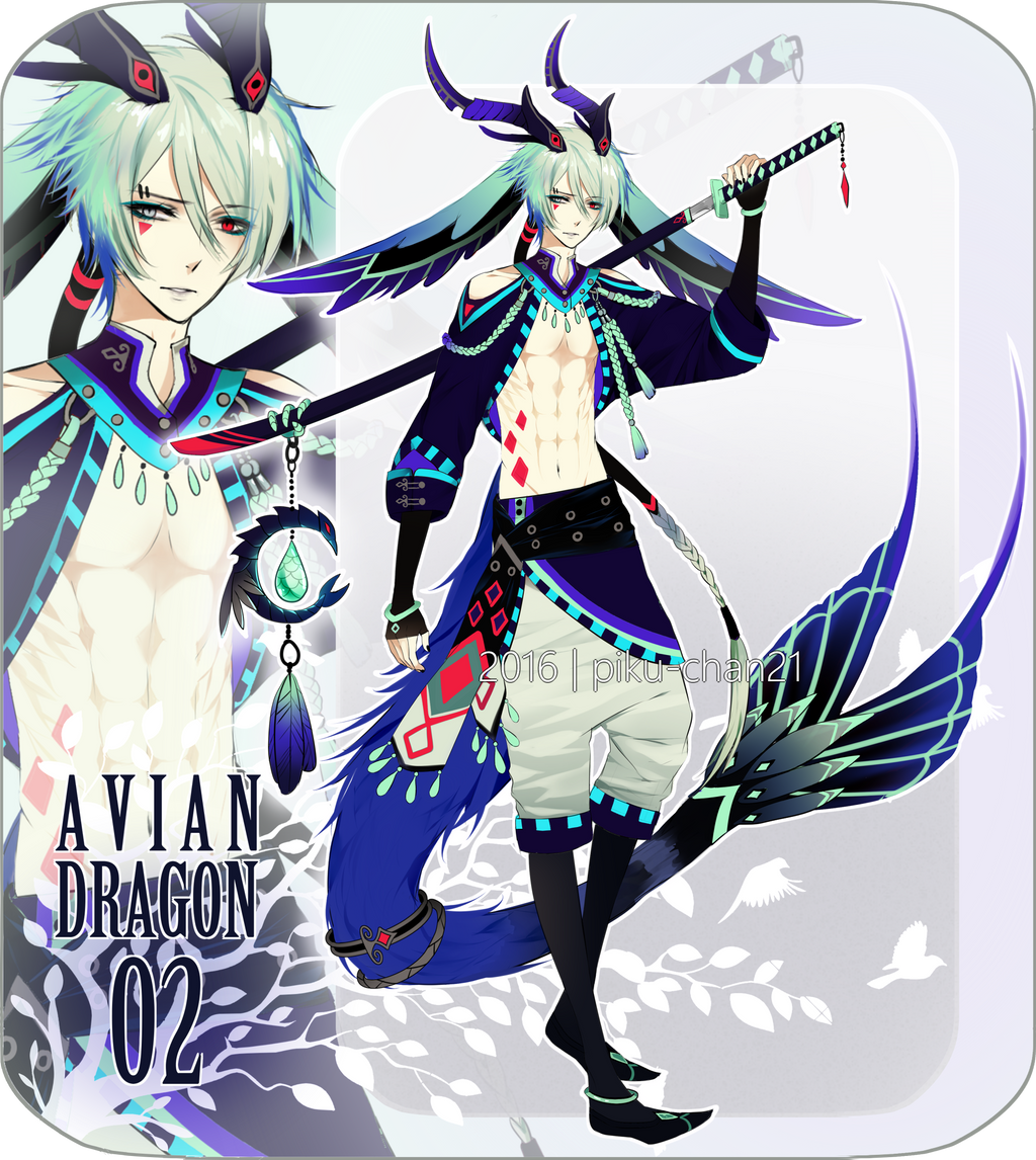 Closed avian dragon adopts 2 by piku chan21 on deviantart - Anime boy dragon ...