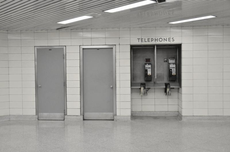 through which door. Telephone by Ragzey-z