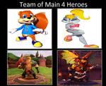 My Team Of 4 Heroes