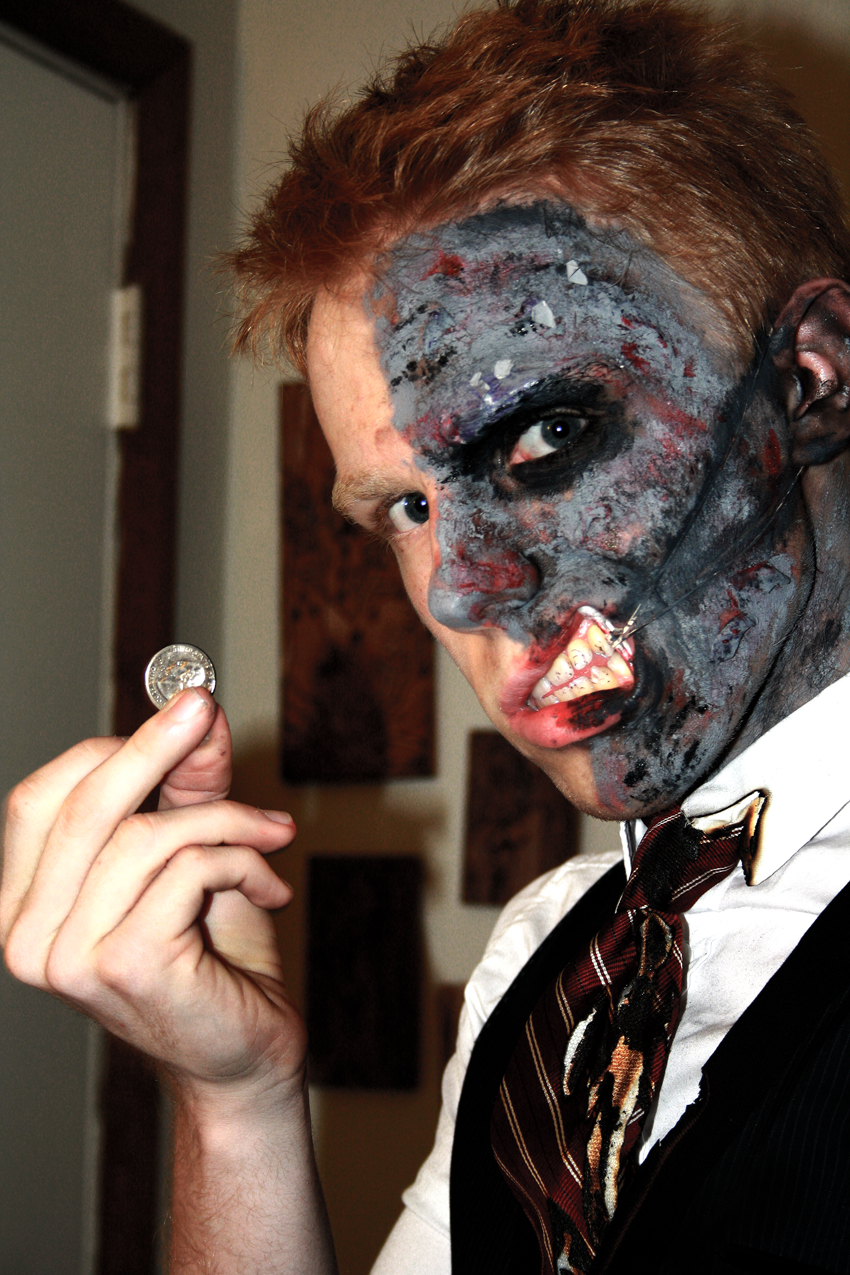Two Face Makeup Dark Knight