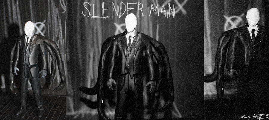 Slender Man figure by Valashard