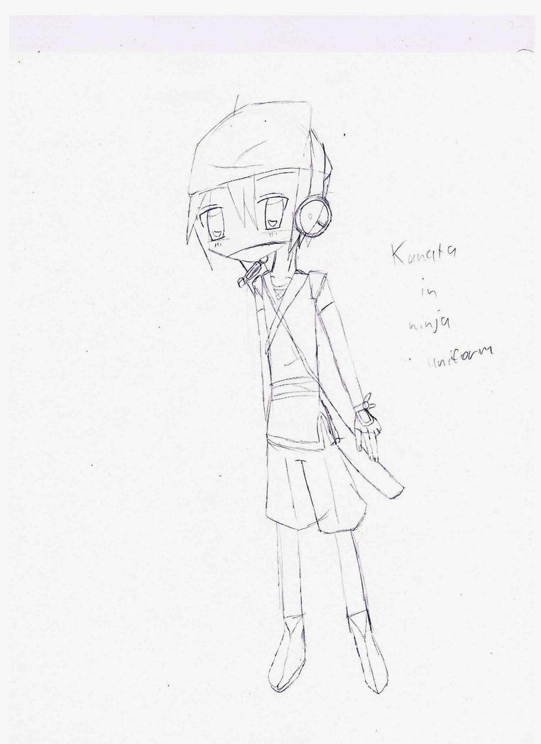 Line Art Ninja : Kanata lineart ninja by pitclover on deviantart