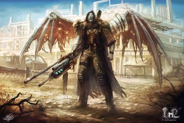 Male desert mercenary concept by mlappas