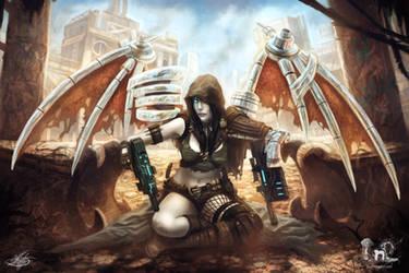 Female desert mercenary concept by mlappas