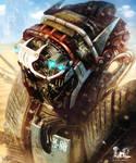 Desert combat robot