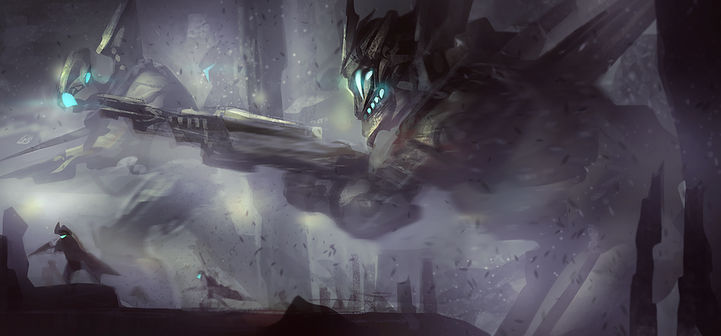 Robots in the mist spitpaint by mlappas