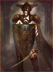 Female Ancient Warrior by mlappas