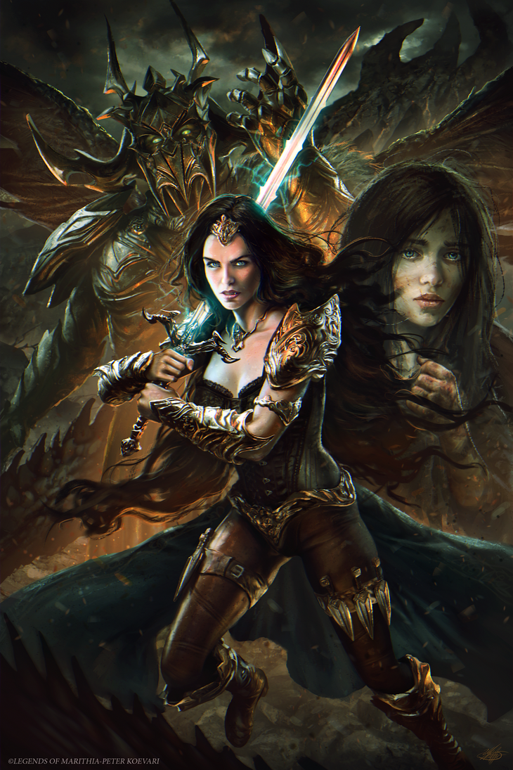 Legends of Marithia: Prophecies Awakening -Cover by mlappas