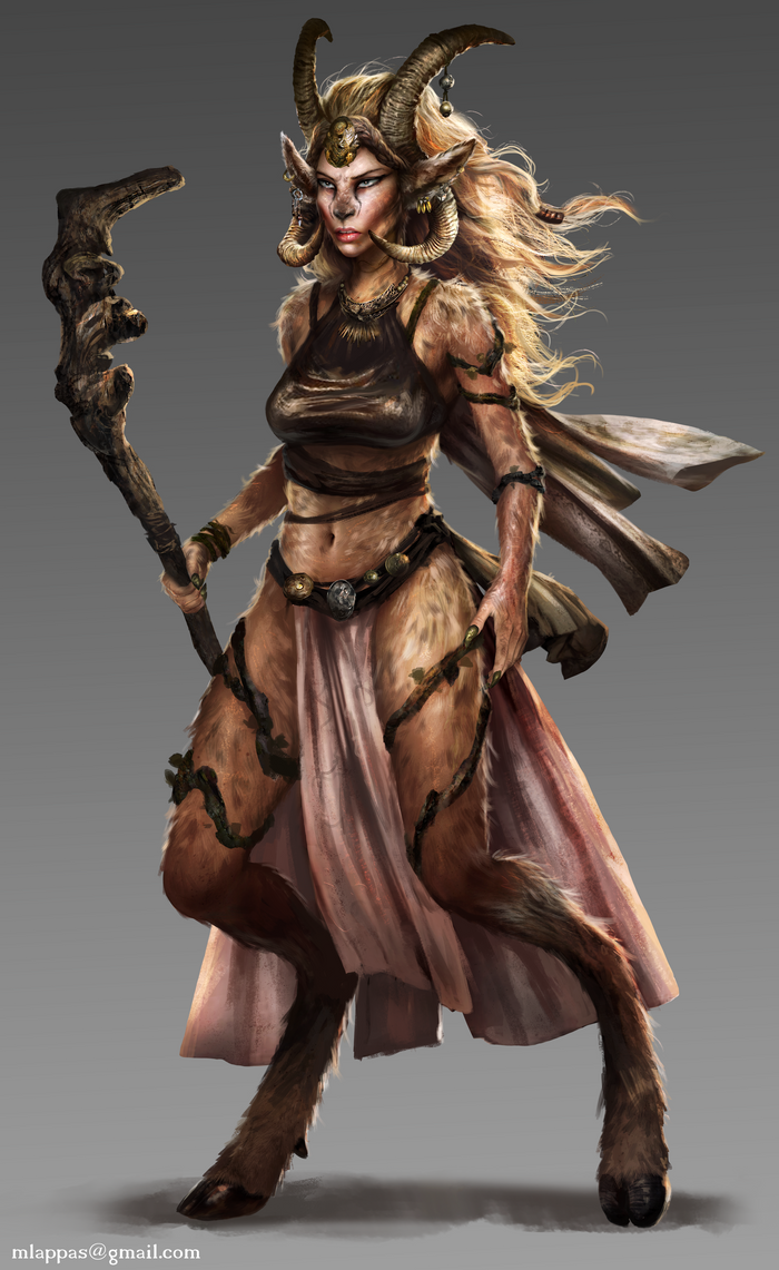 Female Satyr by mlappas