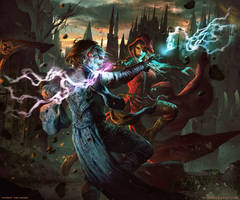 That's Wizard- Card Game Box Cover Art by mlappas