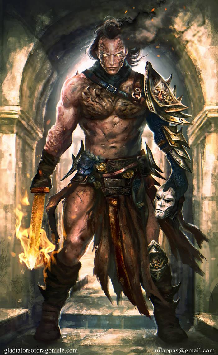 Daze- Gladiators of Dragon Isle by mlappas