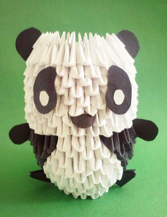 Modular Origami Panda by fractalbeauty25