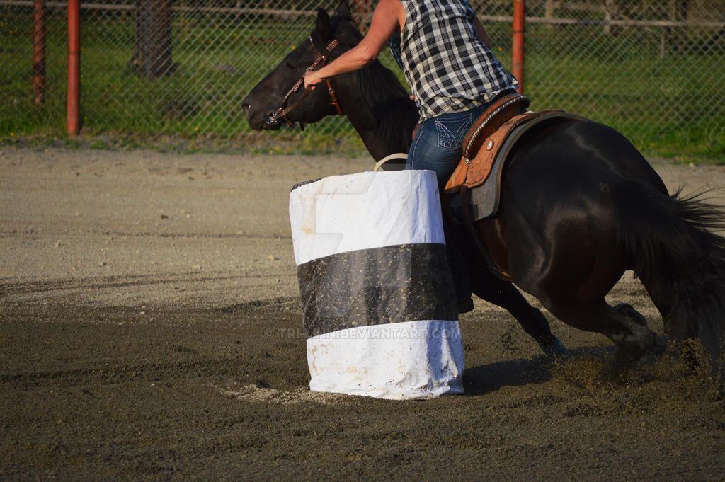 Barrel racing #4 by looloolemon