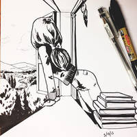 Inktober day 3. Lilian mini story part 3. by JNathanIllustration