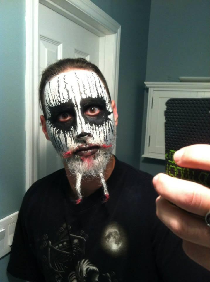metal face paint Black