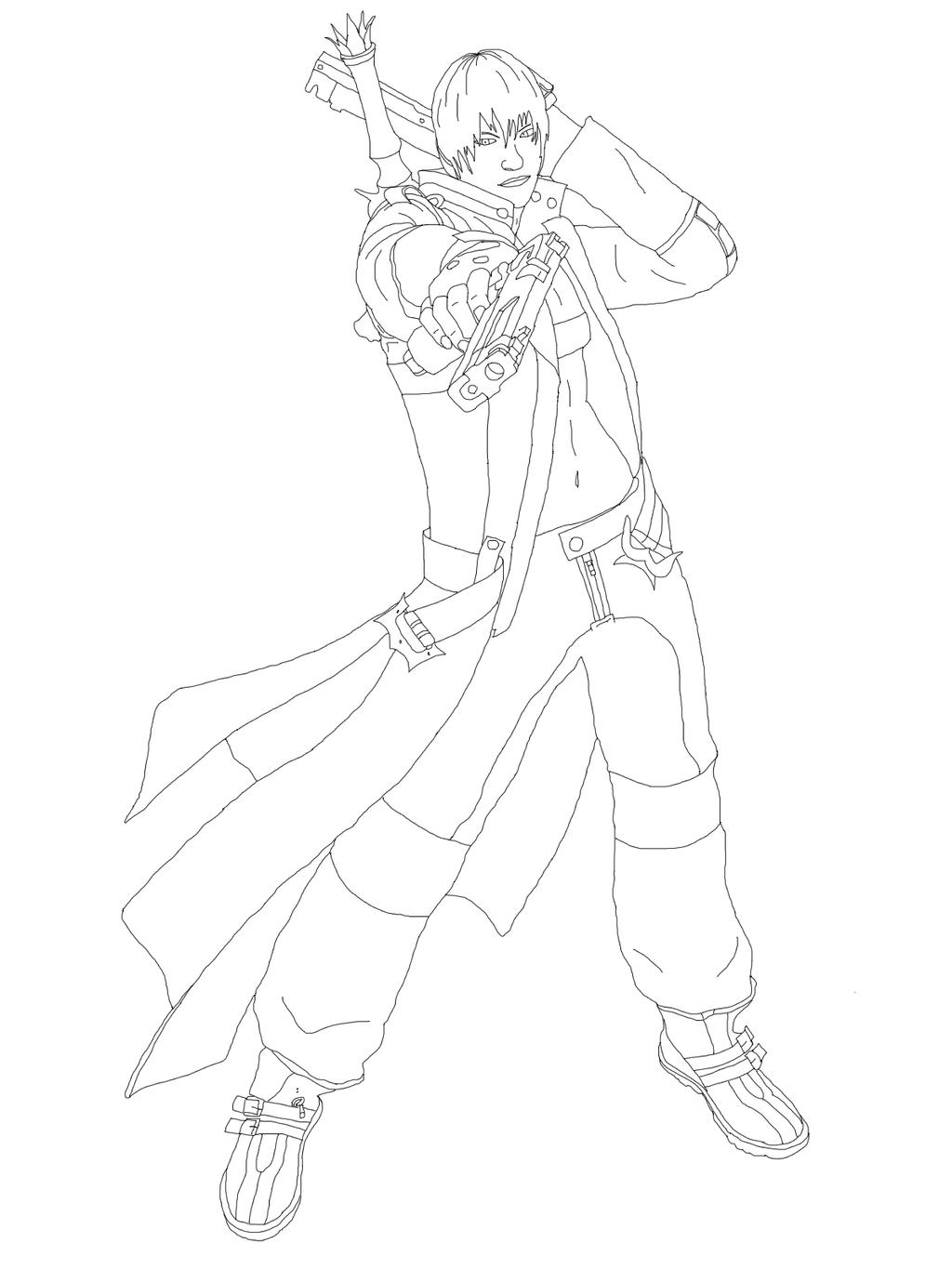 devil may cry coloring pages - photo#7