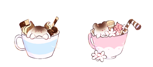 [C] Charming cups of hot chocolate by b-Eggot