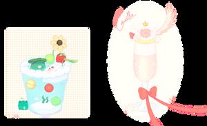 Here are your drinks, tippisuu and mino-erika. by b-Eggot