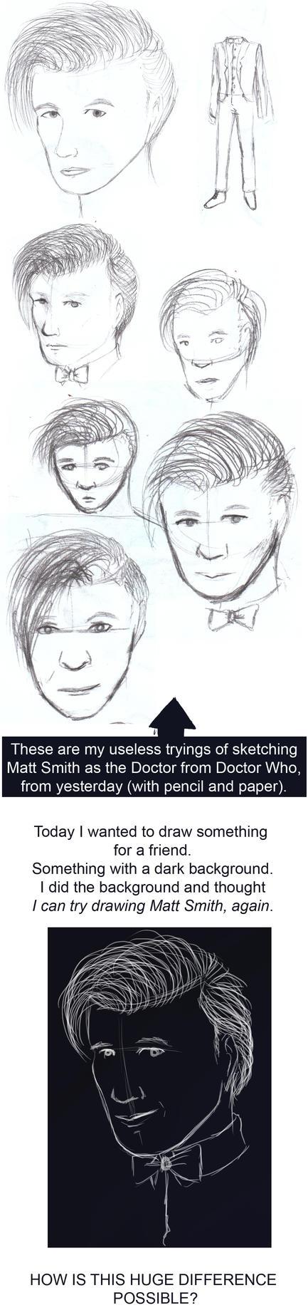 sketchdump - Matt Smith by JulLoy