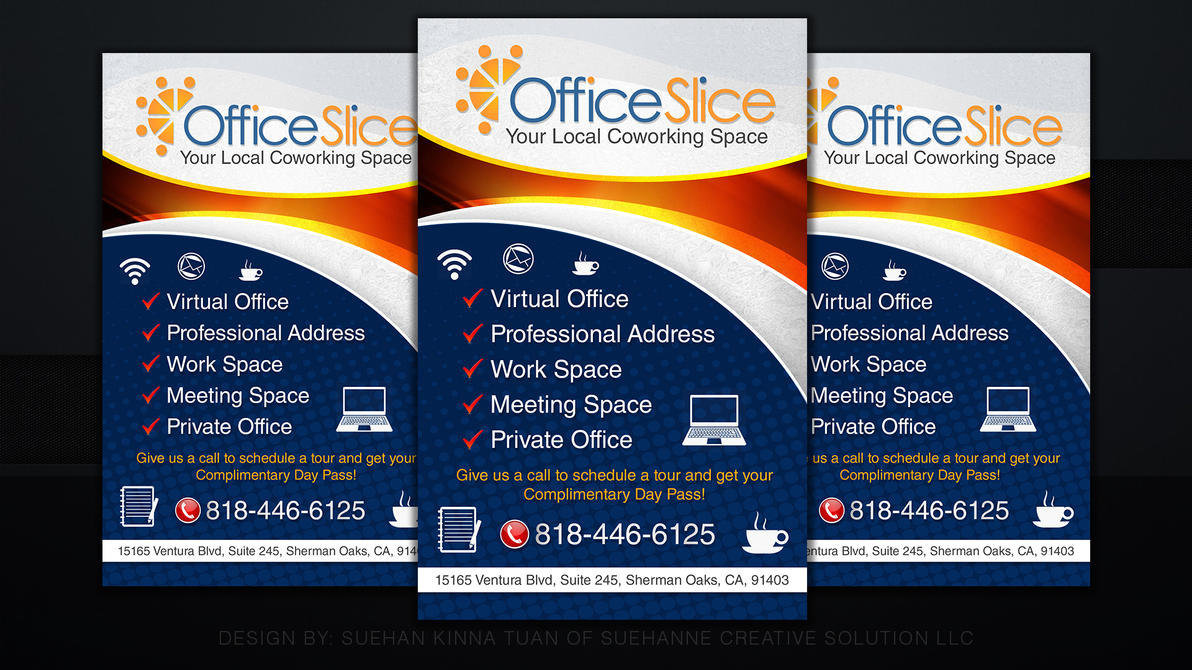 office slice simple flyer design by michaeltuan97