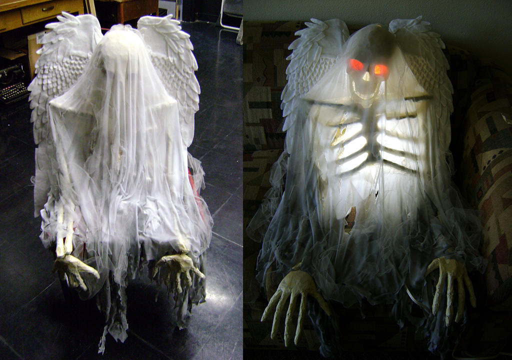 Skeleton Ghost Lamp Prop by ChaoticInsanity13