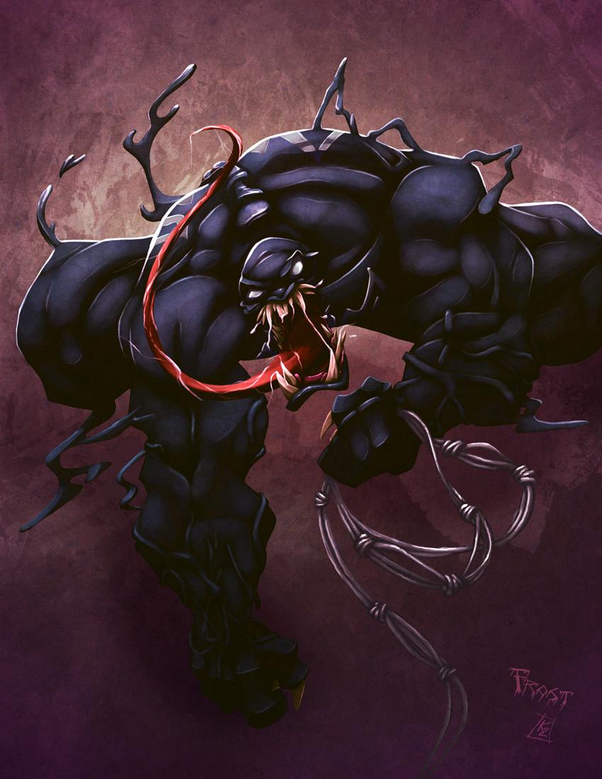Venom Commish by JoshawaFrost