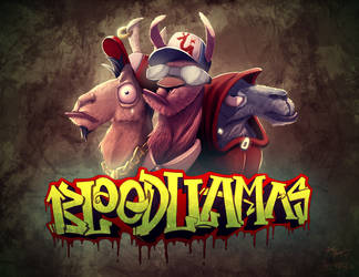 Blood Llamas by JoshawaFrost