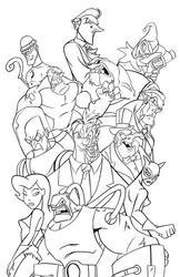 Arkham City Tribute FINAL INKS by JoshawaFrost