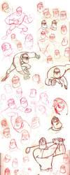 Mr. Incredible Sketch Dump by JoshawaFrost