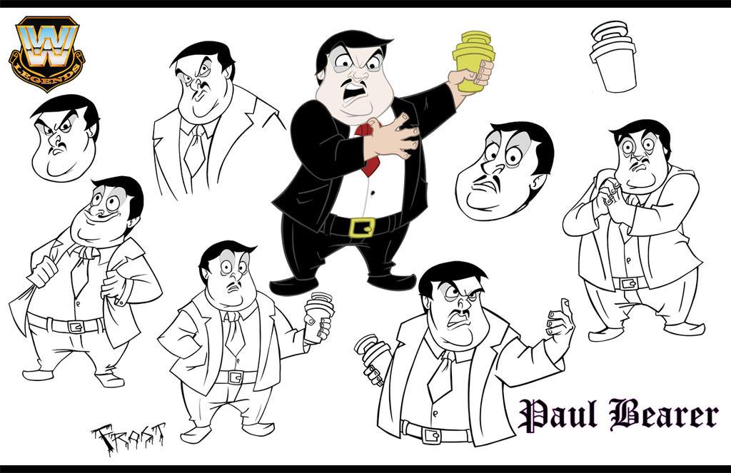 Paul Bearer Character design sheet by JoshawaFrost
