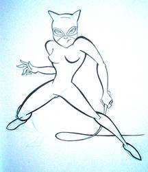 February Draw a Day- Day3- Catwoman by JoshawaFrost