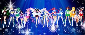 SailorMoon ES and Sailor Cosmos by Bloom2