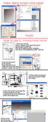 Screen tone paper tutorial2 by tikal
