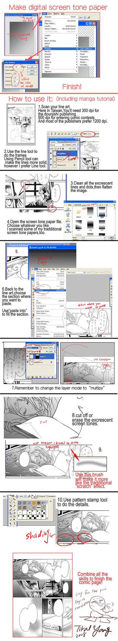 Screen tone paper tutorial2