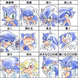 Sonic 12 expressions by tikal