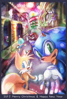 2012 Happy New Year Sonic by tikal
