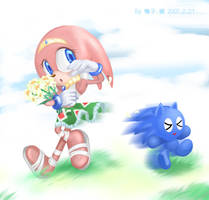 Tikal and Sonic Chao by tikal