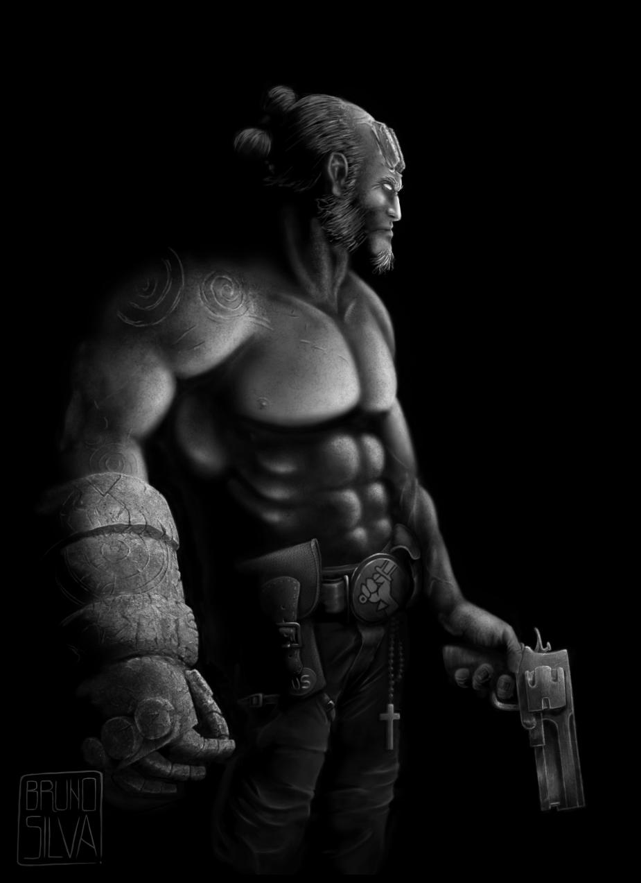 Hellboy BW