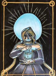 Inktober Day 27: Priestess Mage