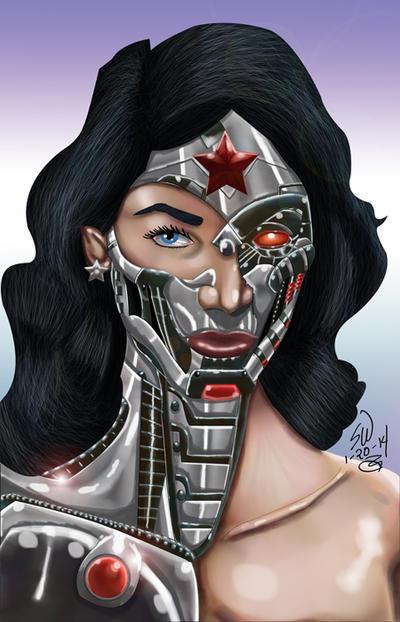 Cyborg Wonder Woman By Man0ftomorrow On Deviantart