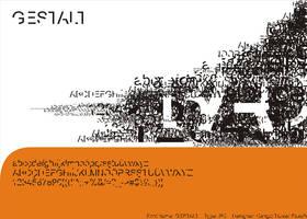 my font  GESTALT by cngz