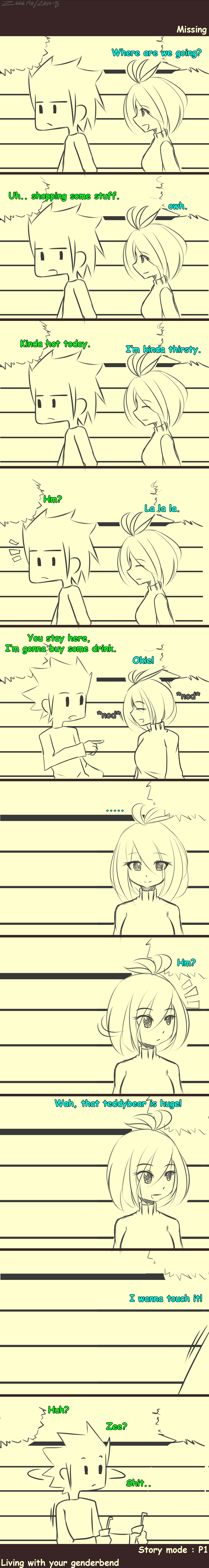 Living With Your Genderbend. *Missing - P1* by Zain-95