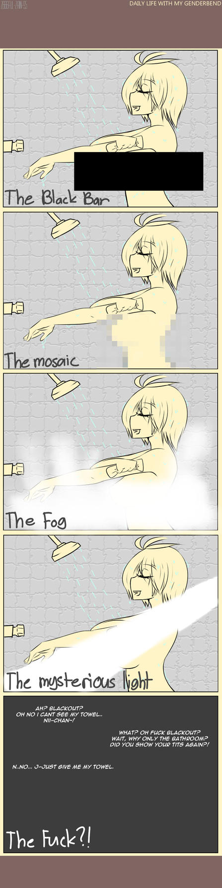 Type of censoring in anime. by Zain-95