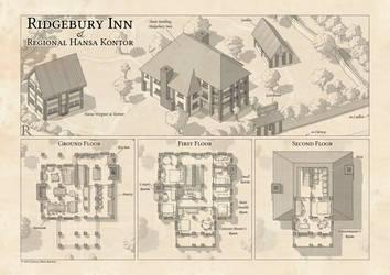 Ridgebury Inn - Battle Map by Caenwyr